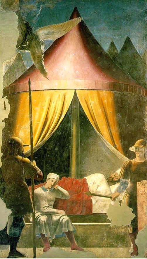 Piero della Francesca – Το Όνειρο του Αυτοκράτορα Κωνσταντίνου [The Dream Of Emperor Constantine, 1458]