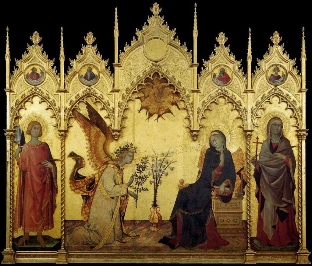 Simone Martini, Lippo Memmi – Ο Ευαγγελισμός της Θεοτόκου [Annunciation, 1333]