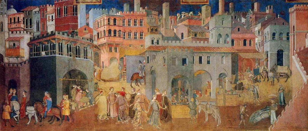Ambrogio Lorenzetti - Η Αλληγορία της Καλής Κυβέρνησης [The Allegory Of Good Government, 1338-39]