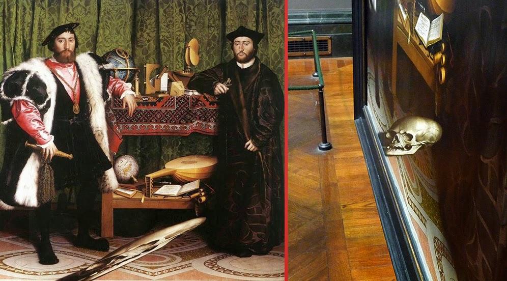 Λεπτομέρεια στους Πρέσβεις του Χανς Χολμπάιν [The Ambassadors, 1533]