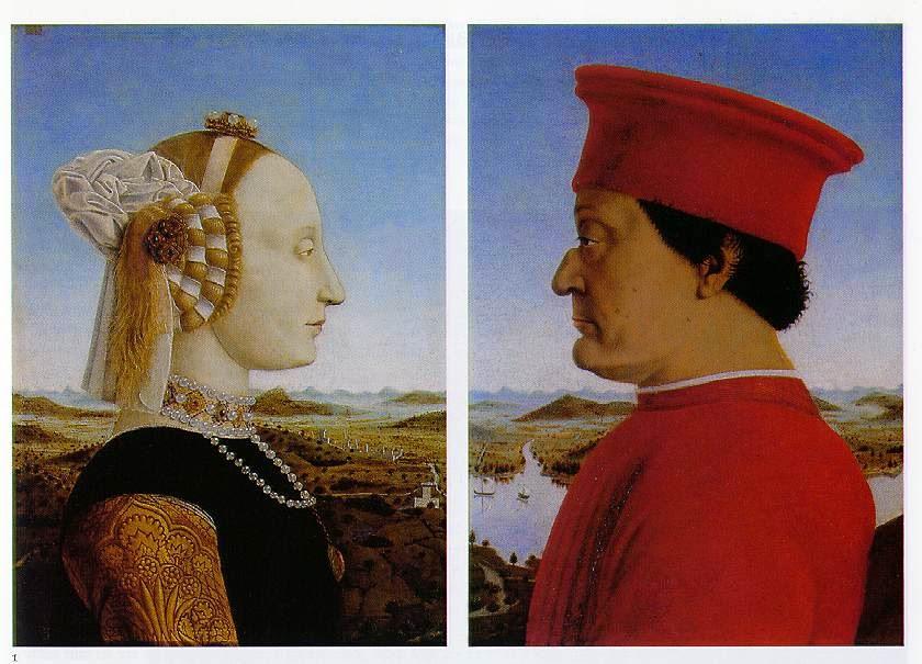 Piero della Francesca - Ο Δούκας Φεντερίκο ντα Μοντεφέλτρο και η σύζυγός του Μπατίστα Σφόρτσα [Duke Federico da Montefeltro and his Spouse Battista Sforza, 1466]