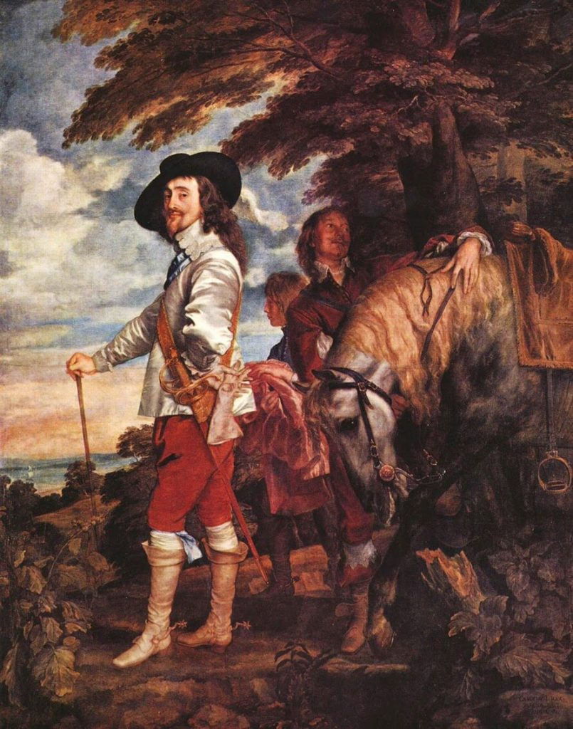 Anthony Van Dyck – Portrait of Charles I in Hunting Dress [Le Roi à la chasse, 1635-38]