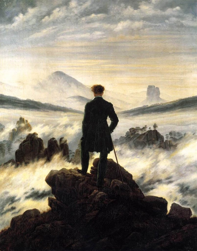 Caspar David Friedrich – Wanderer Above The Sea [ Der Wanderer über dem Nebelmeer, 1818]