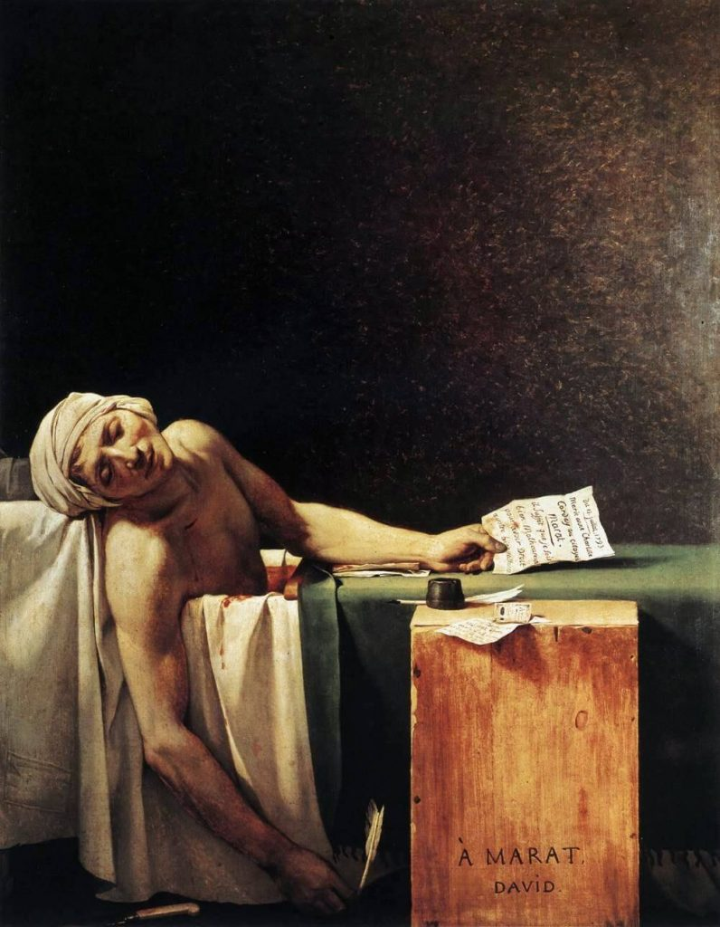 Jacques-Louis David – The Death of Marat [La Mort de Marat , 1793]