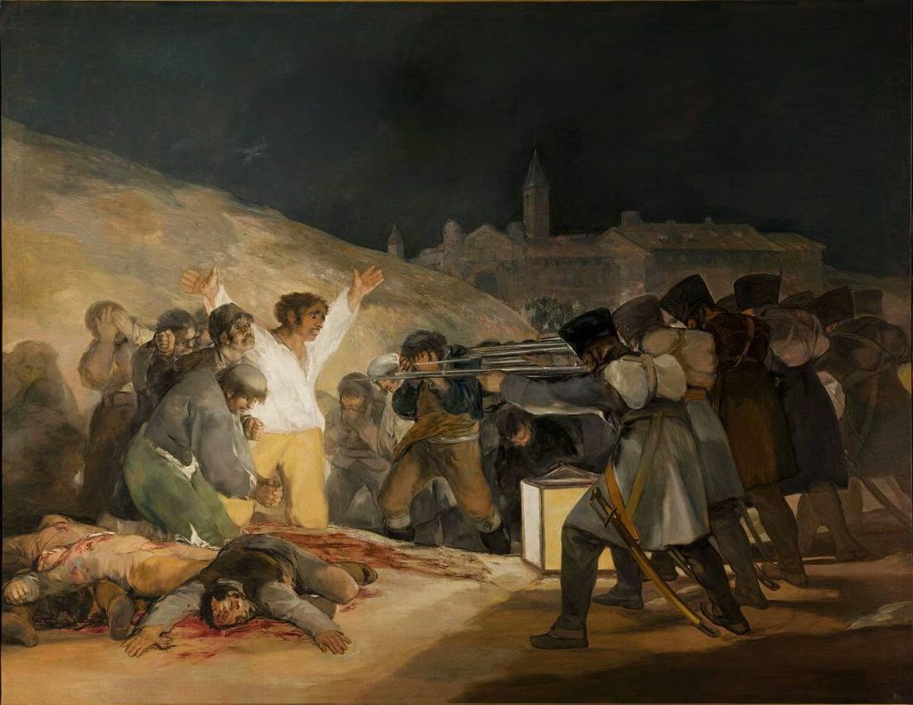 Franscisco de Goya – The Third of May 1808: The Execution of the Defenders of Madrid [1814]