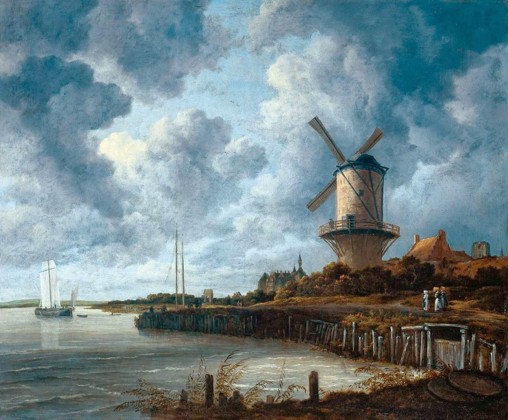 Jacob van Ruisdael – The Windmill at Wijk [1670]