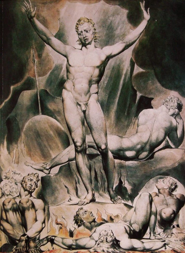 William Blake – Satan Arousing the Rebel Angels [1800]