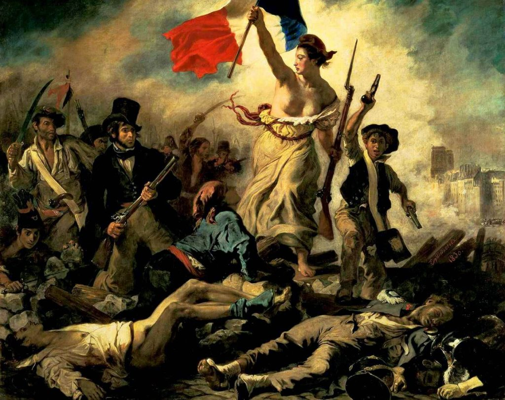 Eugene Delacroix – Liberty Leading The People [La Liberté guidant le peuple, 1830]