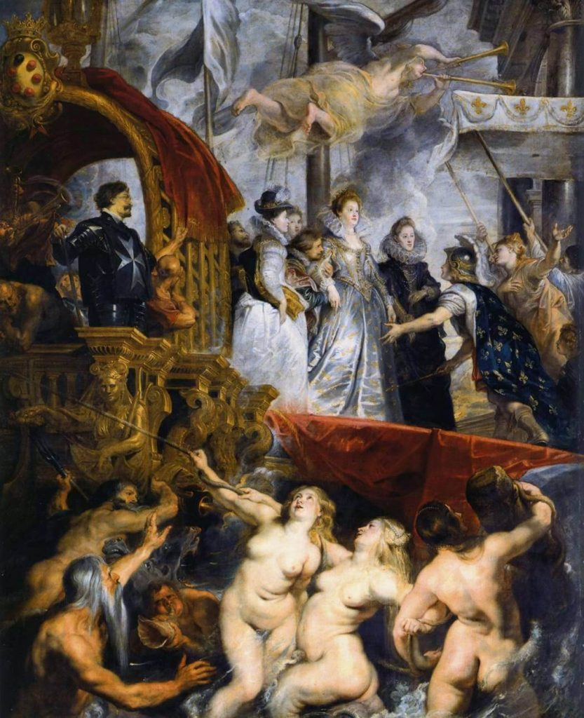 Peter Paul Rubens – The Landing of Marie de Médicis at Marseilles [1623-25]