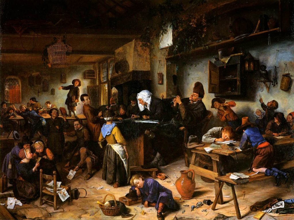 Jan Steen – Village School [1670]
