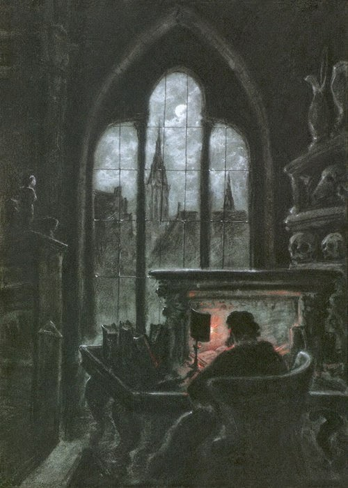 Carl Gustav Carus - Faust In His Study (1851)