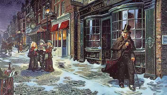 Εικονογράφηση για την Χριστουγεννιάτικη Ιστορία του Ντίκενς