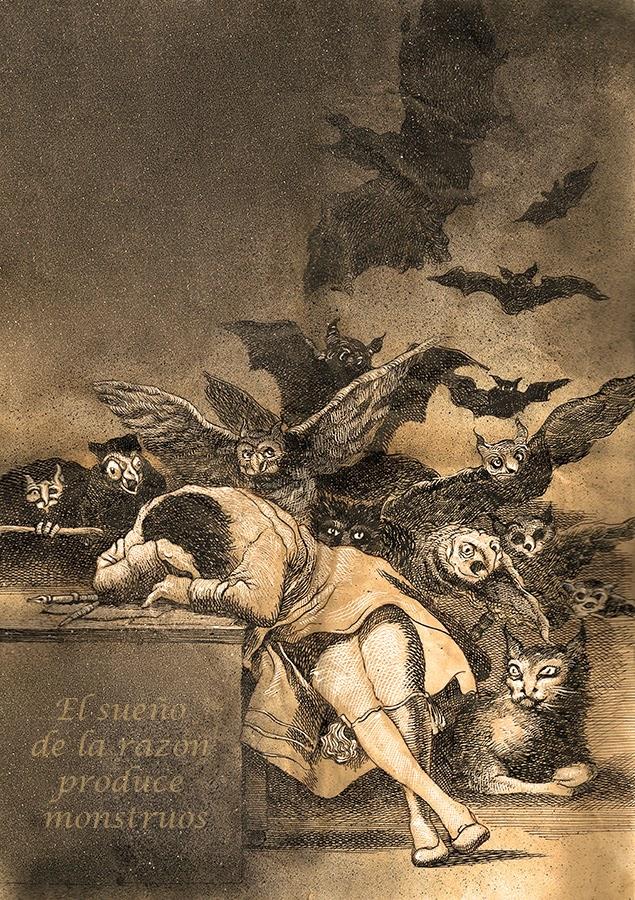Ο Ύπνος της Λογικής Γεννάει Τέρατα, του Φρανθίσκο Γκόγια / El sueño de la razón produce monstruos
