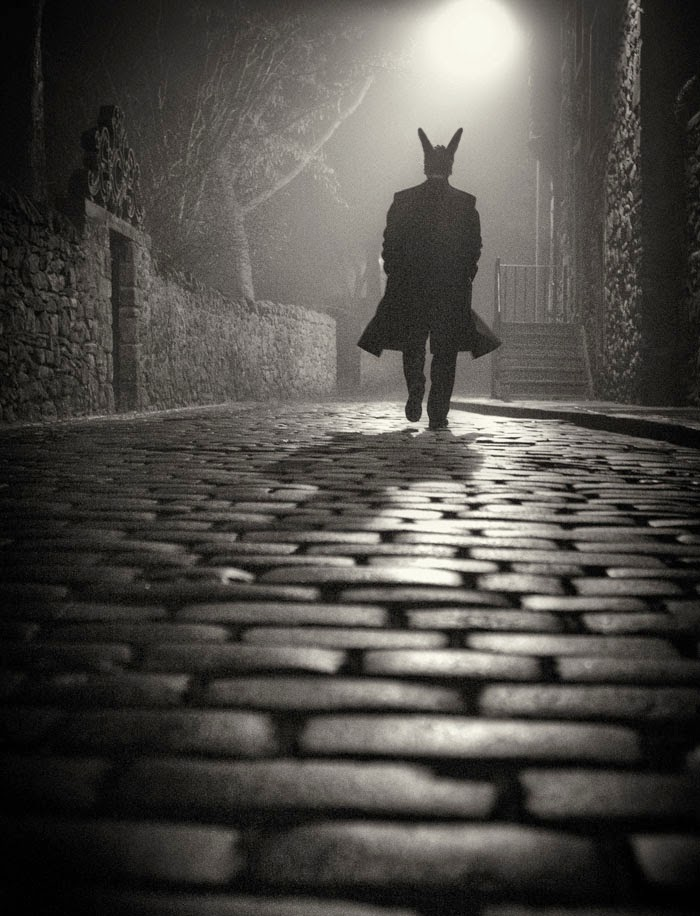 Ο Κούνελος σε νυχτερινό δρόμο