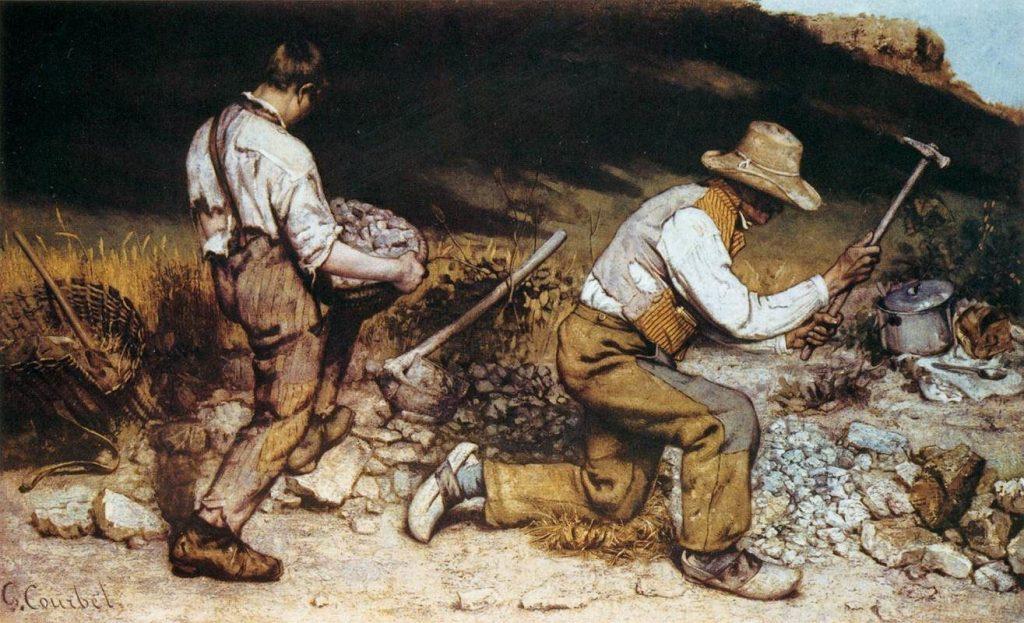 Gustave Courbet – Οι Εργάτες Που Σπάζουν Πέτρες (Les Casseurs de pierres, 1849)