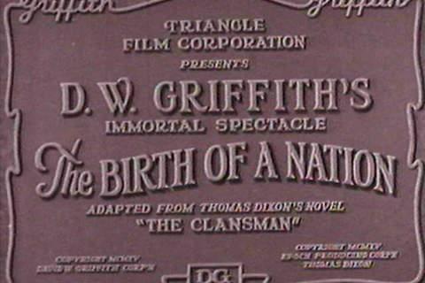 The Birth of a Nation title card / Τίτλοι εισαγωγής για τη Γέννηση Ενός Έθνους