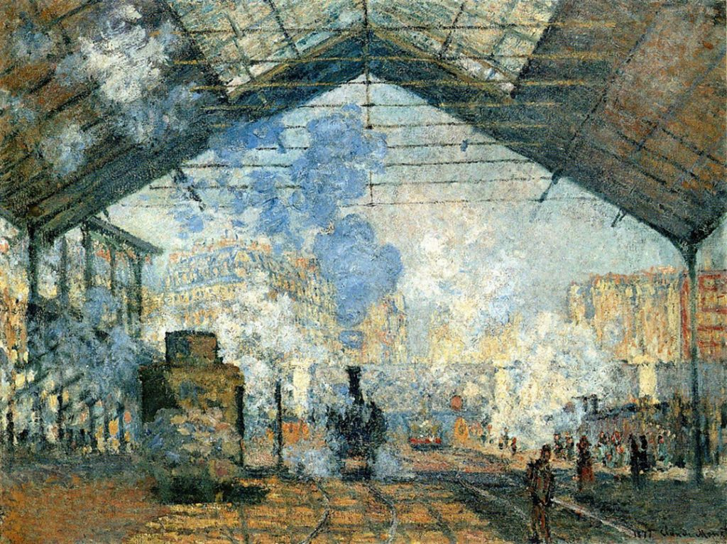 "ClaudeMonet, Ο Σταθμός του Σαιν Λαζάρ (""GareSaint-Lazare"", 1877)"