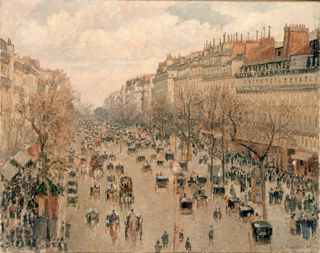 "90 #CamillePissarro– Η Λεωφόρος της Μονμάρτρης (""Boulevard Montmartre"", 1897-98)"