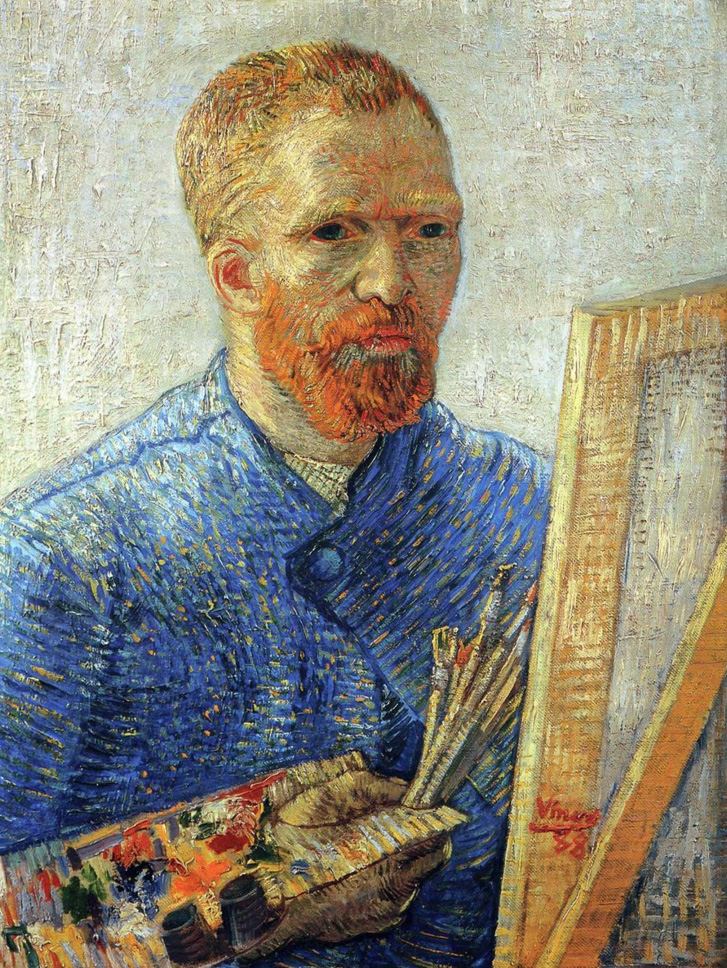 "Vincent van Gogh – Πορτραίτο (""Self-Portrait as a Painter"", 1887-88)"