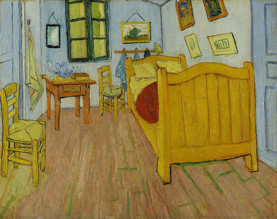 """Vincent van Gogh –ΗΚρεβατοκάμαρα(""""De Slaapkamer"""" - """"The Bedroom"""", 1888)"""