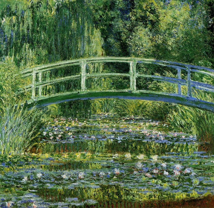 "Claude Monet – HΓέφυρακαιηΛίμνημεταΝούφαρα(""Water Lilies and the Japanese bridge"