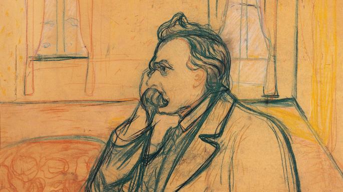 Ο Νίτσε σε σχέδιο του Έντβαρντ Μουνκ / Nietzsche by Edvard Munch