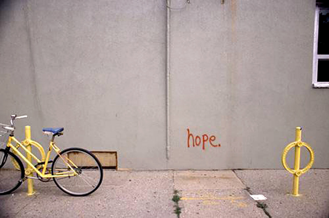 Hope... Writing on the wall