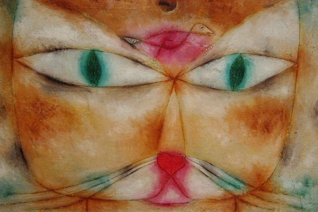 """Πάουλ Κλέε, """"Γάτα και Πουλί"""" - 1928"""