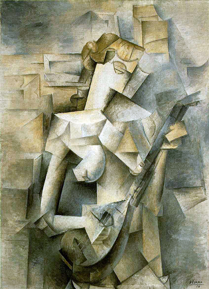 Pablo Picasso - Girl with Mandolin-Fanny Tellier (1910)
