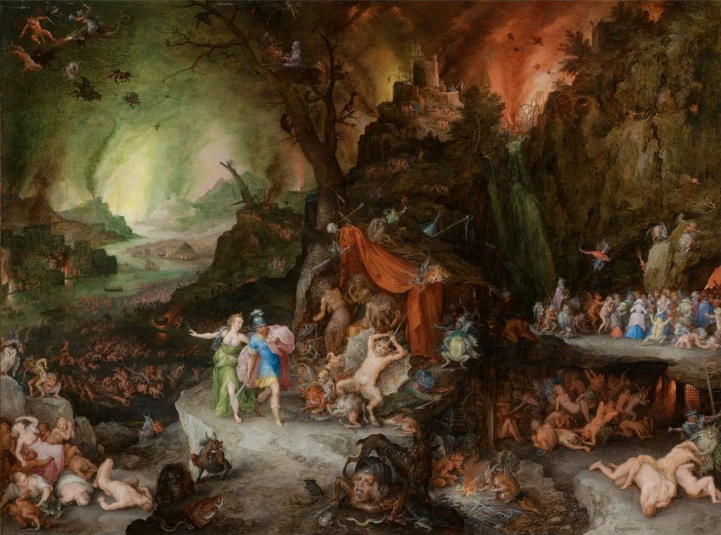 Ζαν Μπρέγκελ, «Ο Αινείας και η Σίβυλλα στον Κάτω Κόσμο», πίνακας του 1598.