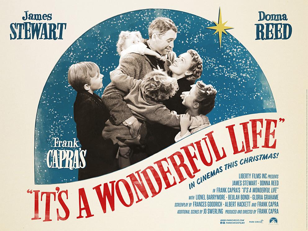 Μια Υπέροχη Ζωή του Φρανκ Κάπρα. Ένα αφιέρωμα στην κλασική χριστουγεννιάτικη ταινία... στην εικόνα η αφίσα του έργου / It's a Wonderful Life movie poster
