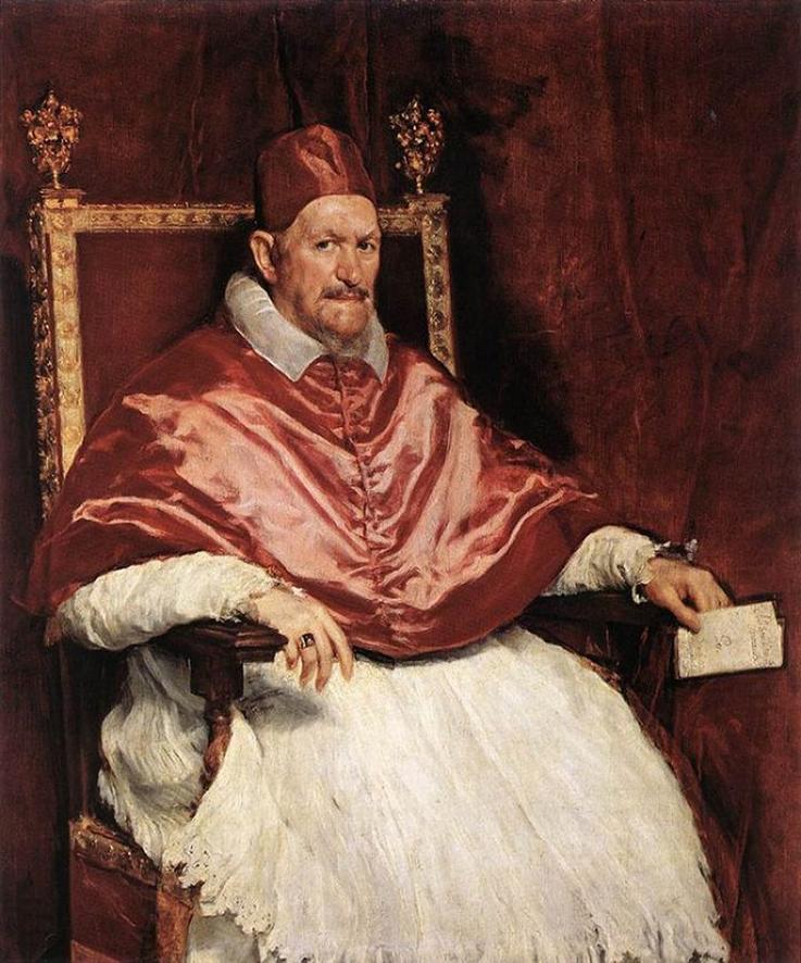 Πορτραίτο του πάπα Ιννοκέντιου του 10ου, από τον Ντιέγκο Βελάσκεθ.