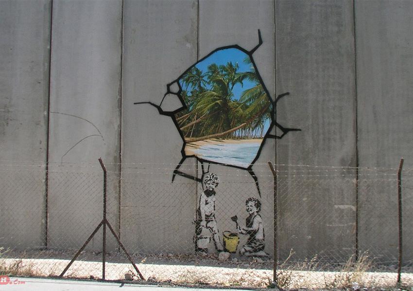 Escape street art by Banksy