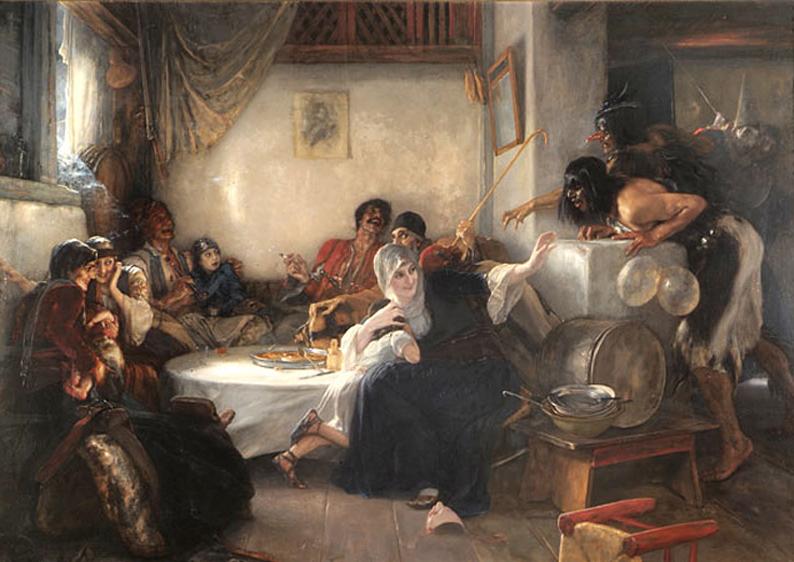 Το Καρναβάλι στην Αθήνα, πίνακας του Νικολάου Γύζη