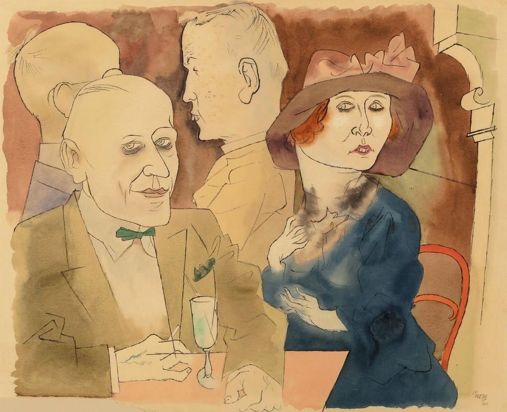 George Grosz - Im Café 1922