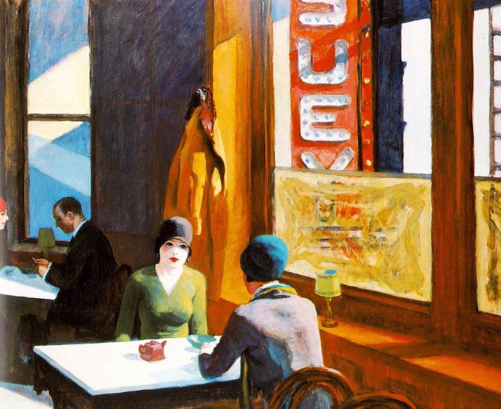 Edward Hopper - Chop Suey, 1929
