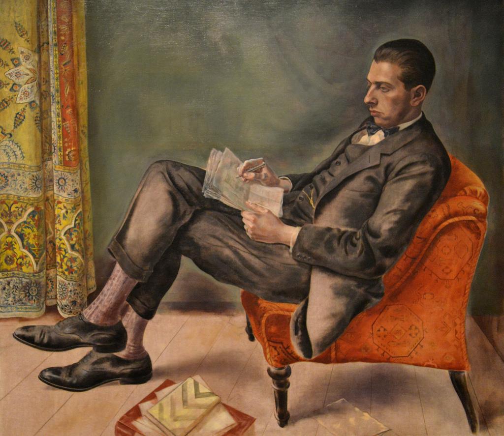 George Grosz - Portrait of Dr. Felix J. Weil_1926