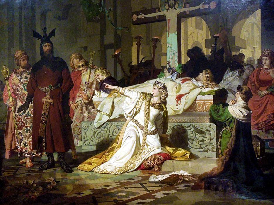 Emil_Lauffer - Kriemhilds Complaint, 1879 - Πίνακας για το τραγούδι των Νιμπελούνγκεν