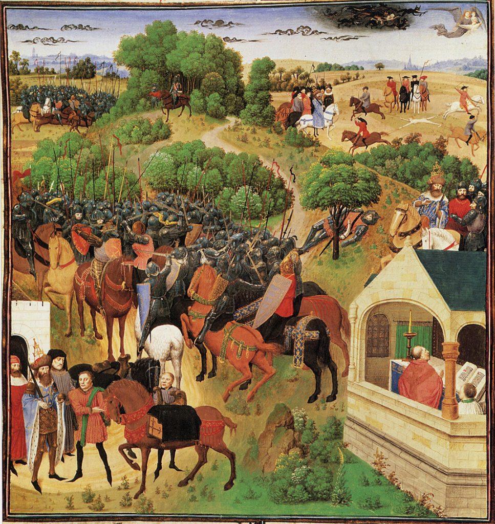 Το Τραγούδι του Ρολάνδου σε σκηνές από αναγεννησιακό πίνακα