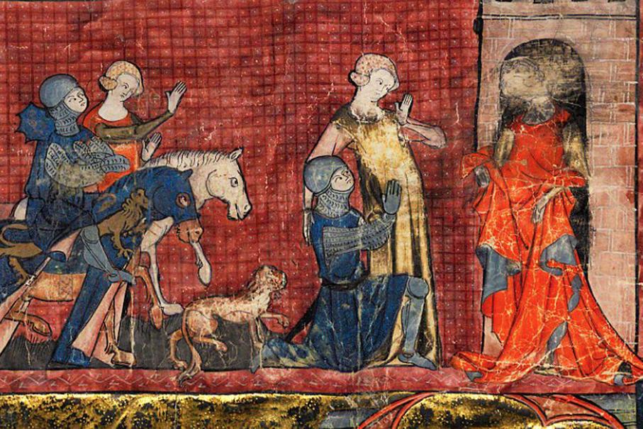 Le Chevalier au Lion - Γαλλικό μεσαιωνικό χειρόγραφο