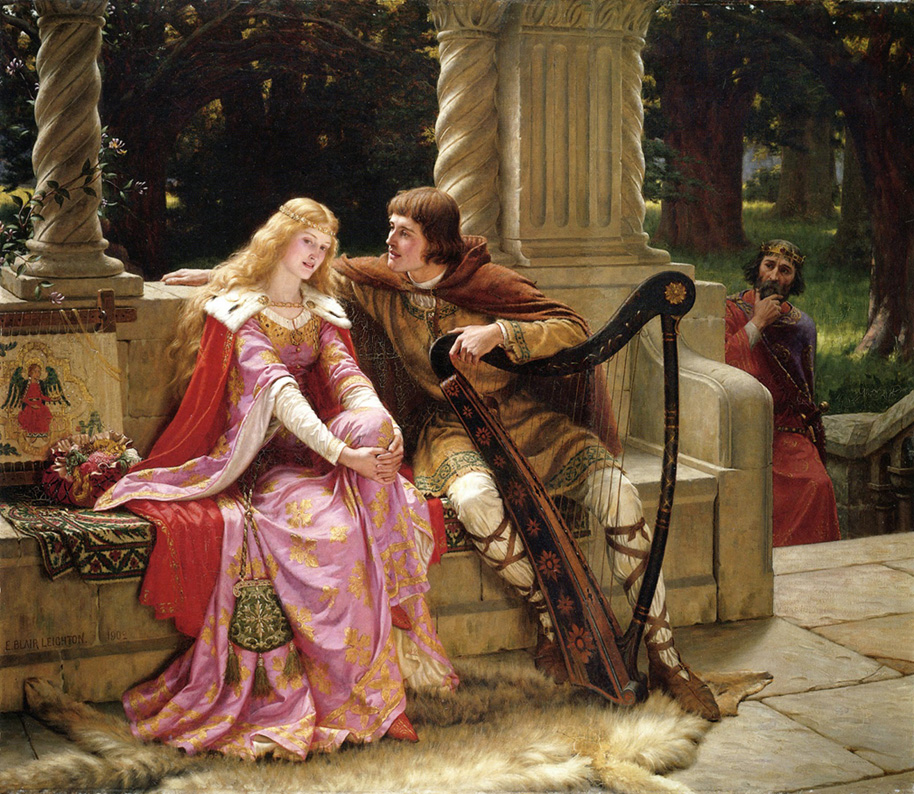 Edmund Blair Leighton - Tristan and Isolde - The End of the Song - 1902