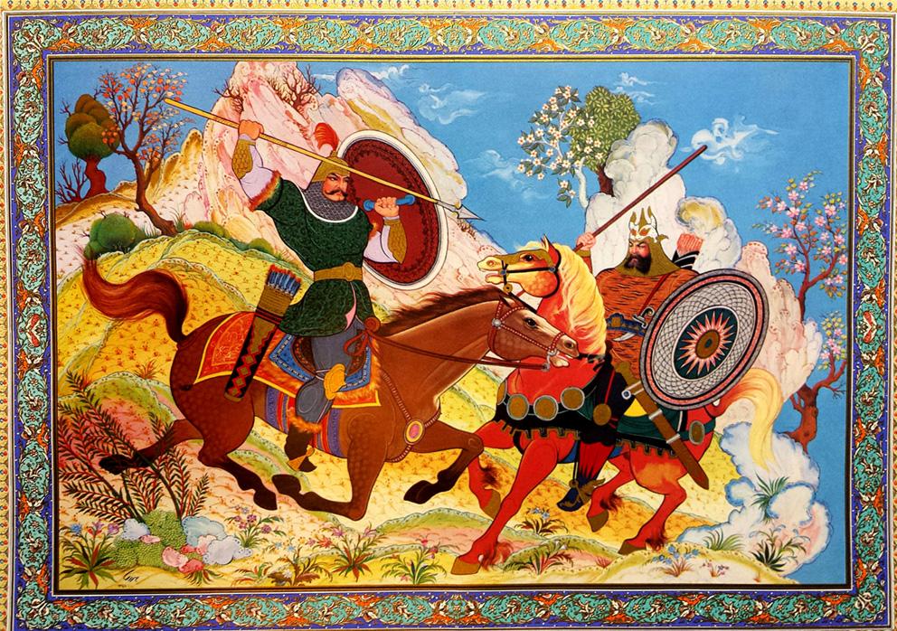 Εικονογράφηση για το περσικό έπος Σαχναμέ, το Βιβλίο των Βασιλέων / Shahnameh illustration