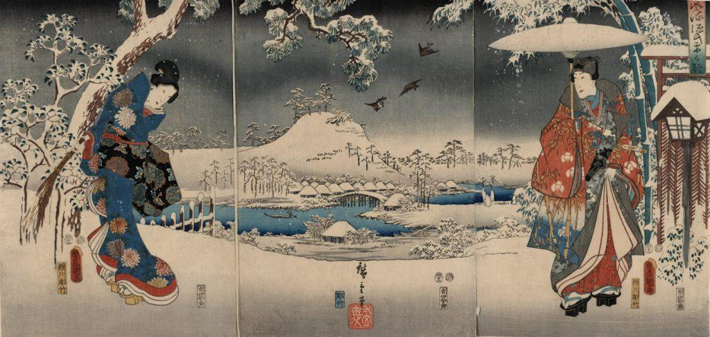 Εικονογράφηση για την Ιστορία του Γκέντζι / Toyokuni Utagawa Hiroshige - Tale of Genji,1853