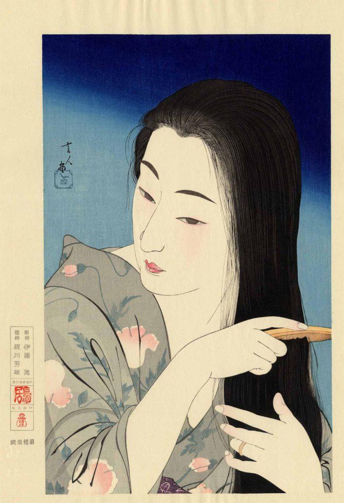 Torii Kotondo - Hair Combing - 1933
