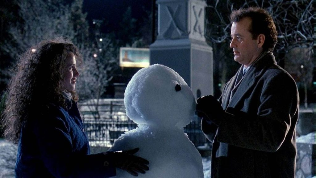 Bill Murray, Andy MacDowell and Snowman