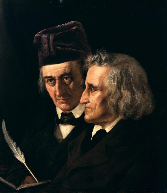 Οι αδερφοί Γκριμ, πορτραίτο της Elisabeth-Jerichau-Baumann