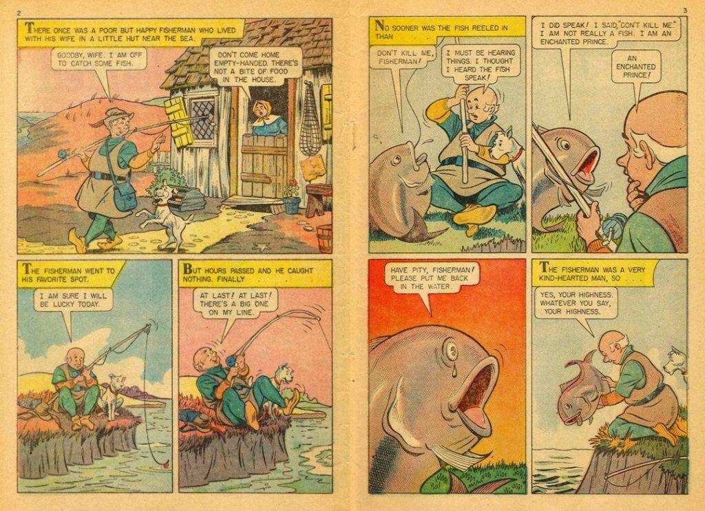 Ο Ψαράς και η Γυναίκα του των αδερφών Γκριμ, από τα Μικρά Κλασσικά Εικονογραφημένα