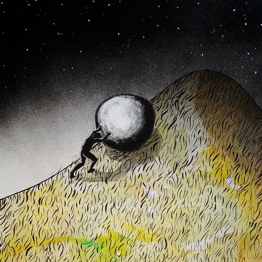 The myth of Sisyphus, by Nikki Bedson