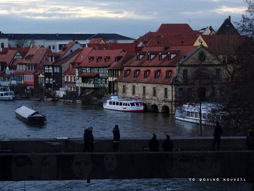 Απογευματινή θέα από τη γέφυρα του Μπάμπεργκ στη Γερμανία / Afternoon in Bamberg, Germany