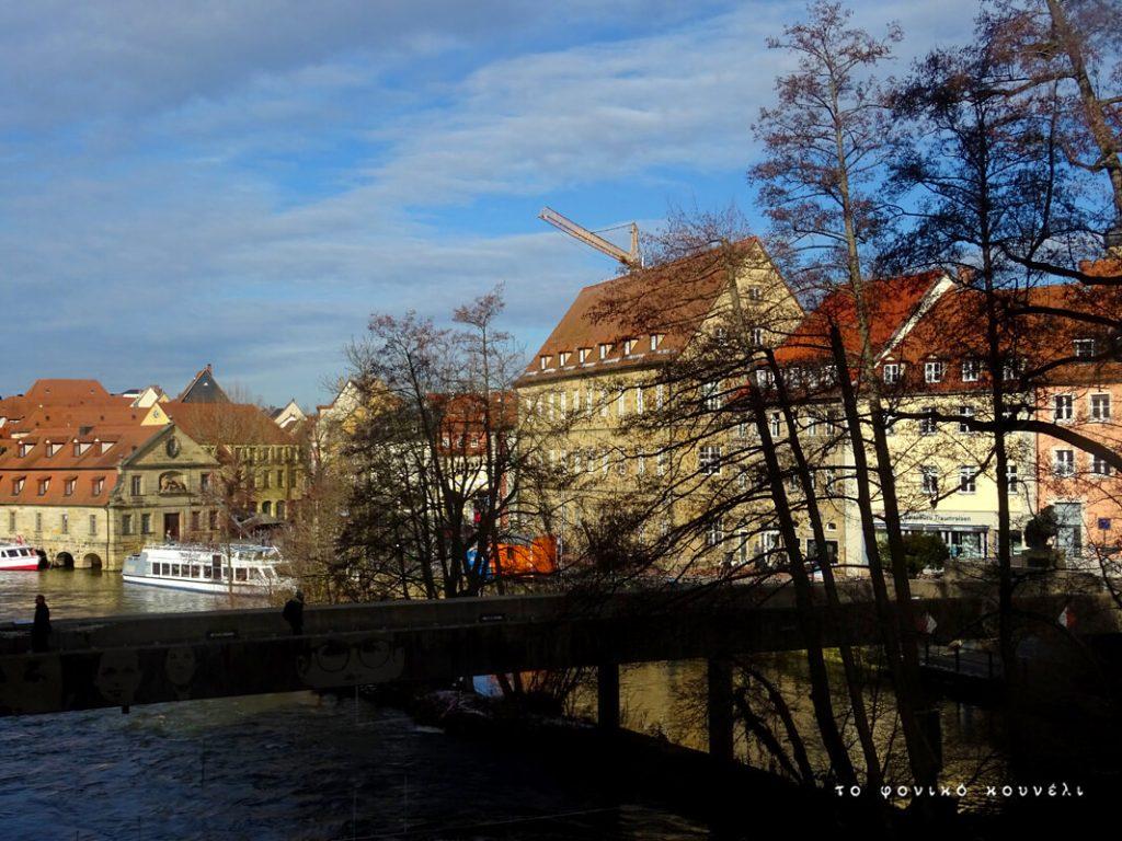 Θέα από τη γέφυρα στο Μπάμπεργκ/ Bridge view in Bamberg, Germany